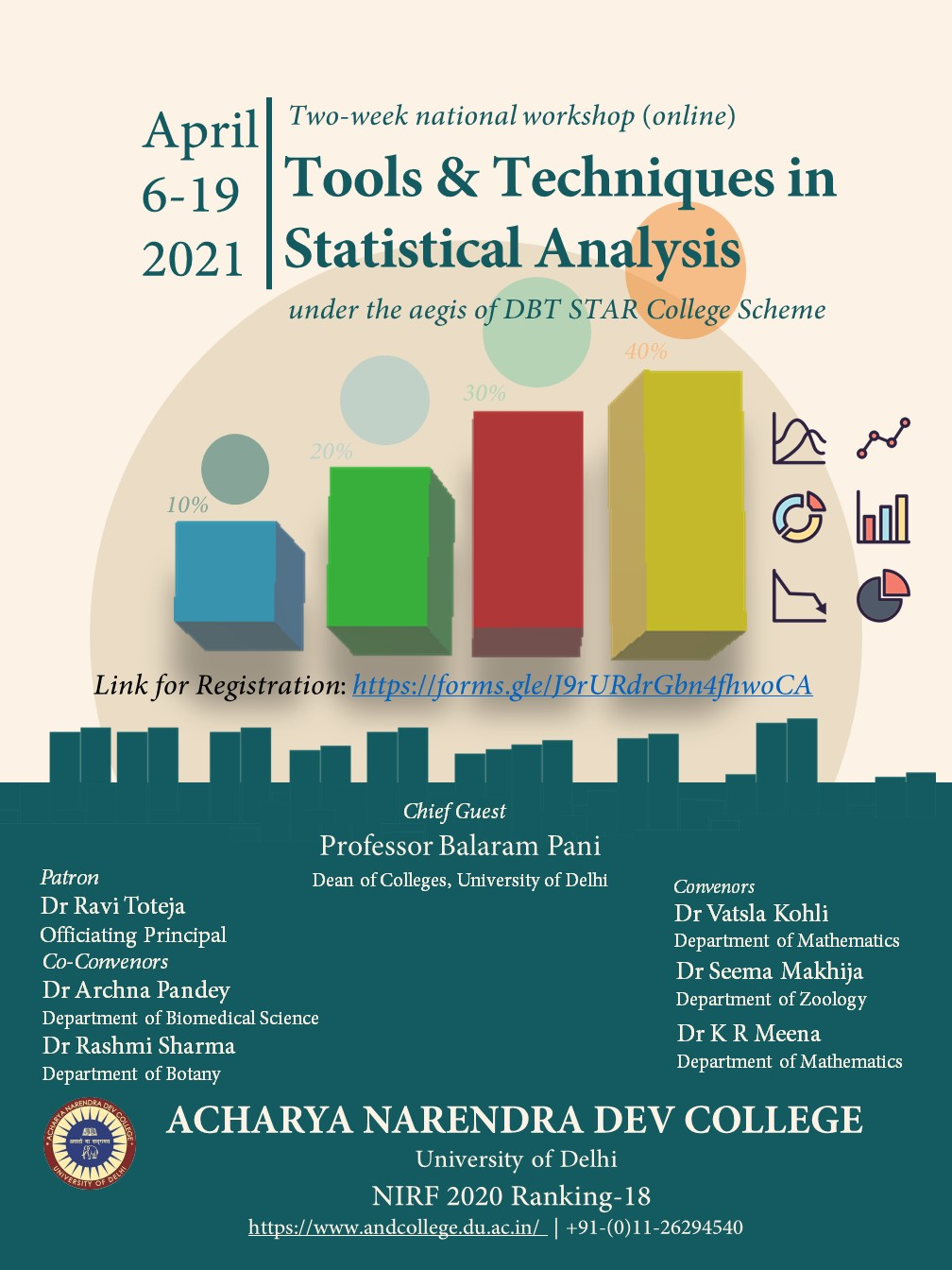 "Two week national workshop (online) ""Tools & Techniques in Statistical Analysis"""