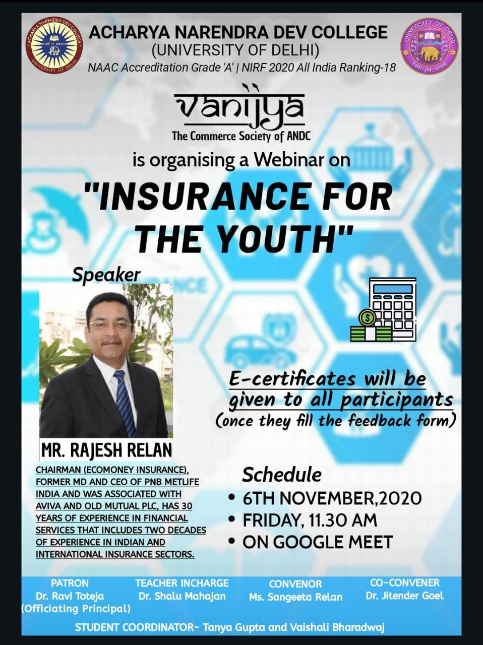 INSURANCE FOR THE YOUTH